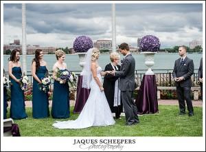 Canadian club wedding photo