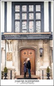 willistead manor winter engagement photos