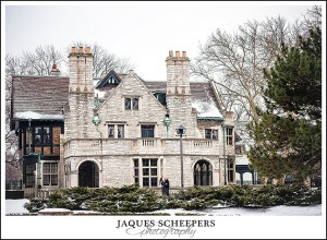 willistead manor winter engagement photos